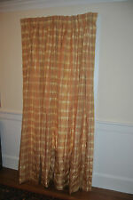 "Custom SILK  Plaid pinch pleat Lined & Felt Interlined 42""x 86"" Drape Panel"