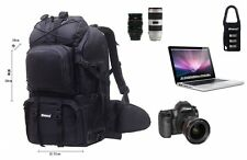 ZORROO Extra Large DSLR Camera/Laptop Travel Backpack Gadget Bag w/ Rain Cover -