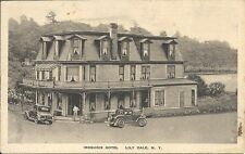 Postcard, New York, Lily Dale, Iroquois Hotel, Old Cars
