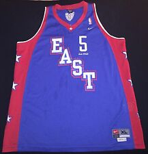 VINTAGE NIKE NBA EAST ALL STAR NEW JERSEY NETS JASON KIDD MENS SEWN JERSEY XL