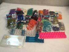 Rainbow Loom Kit Craft Bracelet Maker With Tons Of Colored Bands Used And New
