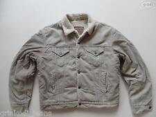 Levi's® Jeans Cord Jacke mit Teddy Fell Gr. L beige, TOP ! Warm gefüttert, RAR !
