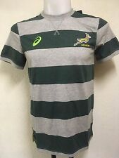 SOUTH AFRICA SPRINGBOKS RUGBY STRIPED TEE SHIRT BY ASICS ADULTS XL BRAND NEW