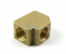"2 Pieces Brass 1/4"" BSP 3 way Fitting Fuel Air Gas Water Hose Connector Coupler"