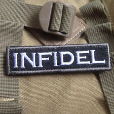 INFIDEL Swat Military Tactical Patch Tape Army Morale Badge Armband for Backpack