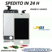 TOUCH SCREEN+LCD DISPLAY RETINA + FRAME PER APPLE IPHONE 4S VETRO SCHERMO BIANCO