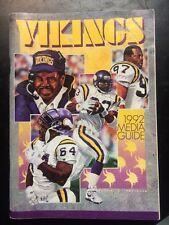 vintage Minnesota Vikings football 1992 Media Guide NFL sports book