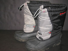 BOYS SIZE 3 Youth gray Columbia WINTER SNOW BOOTS