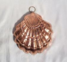 Copper Kitchen Mold!  Heavy Gauge Tin Lined Sea Shell Copper Kitchen Mold!