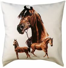 Arabian Horse Themed Cotton Cushion Cover - Perfect Gift