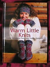 WARM LITTLE KNITS by Grete Letting CLASSIC NORWEGIAN TWO COLOUR PATTERN KNITWEAR