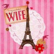 To My Wonderful Wife Valentines Card Paris Valentine's Day New Greeting Cards