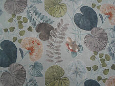 Harlequin Curtain Fabric 'Dardanella' 3.5 METRES SeaGlass/Russet  Viscose/Linen