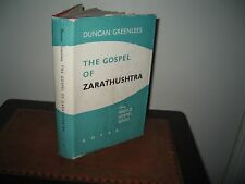 THE GOSPEL OF ZARATHUSHTRA DUNCAN GREENLEES 1978 hardback