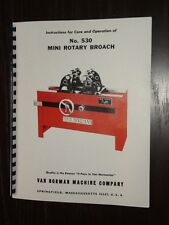 Van Norman Model 530 Rotary Broach Manual Inst & Parts