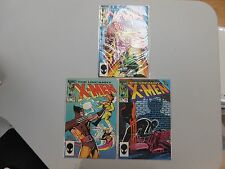X-Men comic lot of 3! #'s 194-196! VF8.5 and up! Copper age Marvel beauties!