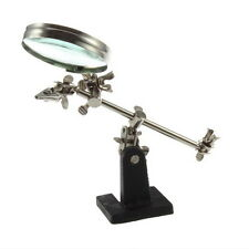 Third Hand Soldering Iron Stand Helping Magnifying Tool UL