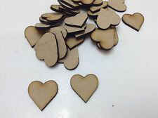 MDF, 125 Small Wooden 60mm Hearts 4mm thick  for Crafting - Laser Cut