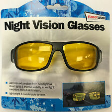 Streetwize Unisex Night Vision Car Driving Glasses - Brand New - Freepost