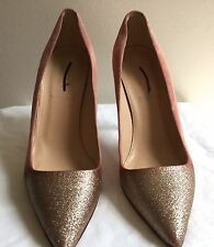 J CREW Collection Roxie Glitter Suede Pumps Sz7 GlitterSuede #a9599 $328