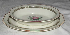 Booth Ceylon Ivory pattern 3192 Oval Serving Platter and Vegetable Bowl