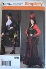 Simplicity Pattern #1819 Gothic Steampunk Halloween Cosplay Dress Corset Jacket
