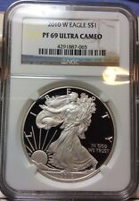 2010 W American Silver Proof Eagle $1 Ounce UCAM PF69 NGC Coin PR69 Ultra Cameo