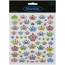Scrapbooking Crafts Stickers Sticker King Bejeweled Crowns Bright Colors Repeats