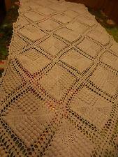 1m,28x0,58 joli travail au coton ancien ,reposetéte fauteuil ou futur coussin