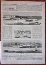 1847 TRAGITTO DA VENEZIA A POLA ROVIGNO PIRANO Pula Rovinj Piran Istra Istria