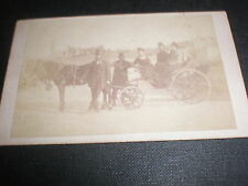 Cdv old photograph people horse carriage Lock & Whitfield London c1860s