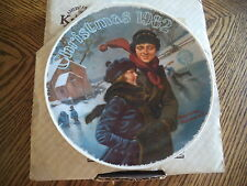 Norman Rockwell CHRISTMAS COURTSHIP 1982 Collectible Plate in Original Box