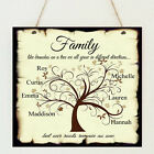 Beautiful Personalised Family Tree Children Love Plaque Shabby Present Chic Gift