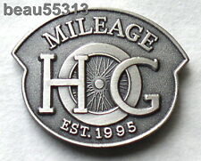 HARLEY DAVIDSON OWNERS GROUP HOG H.O.G.1995 MILEAGE MILES VEST HAT JACKET PIN
