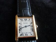 MENS CARTIER 18K  TANK WATCH