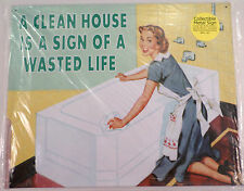 Clean House, Sign Of A Wasted Life Funny Metal Sign Pub Game Room Bar