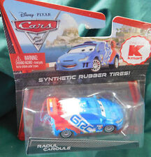 "Disney Cars 2 Diecast Kmart Exclusive ""RAOUL CAROULE Synthetic Rubber Tires 2010"