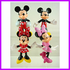 "4 pcs Mickey Mouse Minnie Mouse Clubhouse 3"" Cake Toppers Action Figures + CHARM"