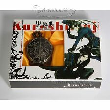 Anime Black Butler Kuroshitsuji Sebastian Ciel Pocket Watch Cosplay+original Box