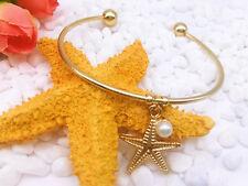 New Fashion Simple And Elegant Pearl Starfish Pendants Bracelet