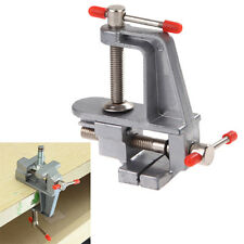 "Aluminum 3.5"" Miniature Bench Vise Small Jeweler Hobby Clamp On Table Vice Tools"