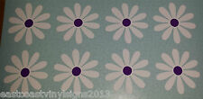 "8 x 3"" Daisy Flowers  - white & purple car sticker, decals, graphics, Daisies"
