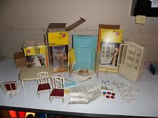 Vintage Sindy accessories Marx toys Breakfont, shower, dinning table and chair