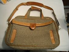 Vintage Hartmann Luggage Tweed Leather Carry On Shoulder Laptop bag  bag see pic