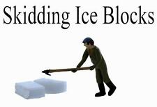 HO ICE DOCK Worker....with his Ice Hook Skidding Ice Blocks, comes Painted