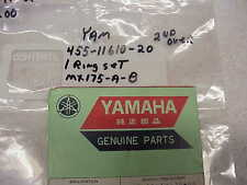 YAMAHA ,NOS,OEM, MX175 A/,175, PISTON RINGS ,455-11610-10 ,1ST OVER, NEW, #100