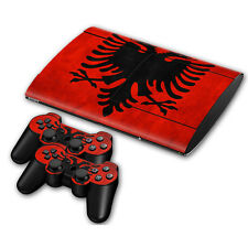 PS3 PlayStation 3 Super Slim Skin Design Aufkleber Schutzfolie Set - Albania
