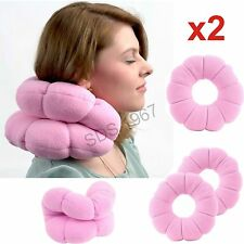 2x Travel Release Pressure Total Pillow Twist Neck Back Head Cushion  Comfort