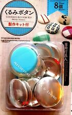 "DIY 38mm (1.5"") EXTRA LARGE Fabric Covered Button Kit + 8 Buttons + PUSHER TOOL!"