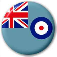 Raf Ensign - British Military Flag 25Mm Pin Button Badge Lapel Pin